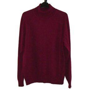 JEANNE PIERRE XL Turtleneck Sweater Burgundy Thin